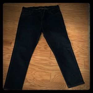 citizen of humanity crop jeans in dark blue